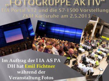 Fotogruppe aktiv für TIA Portal V12 und die S7-1500 Vorstellung im ZKM Karlsruhe